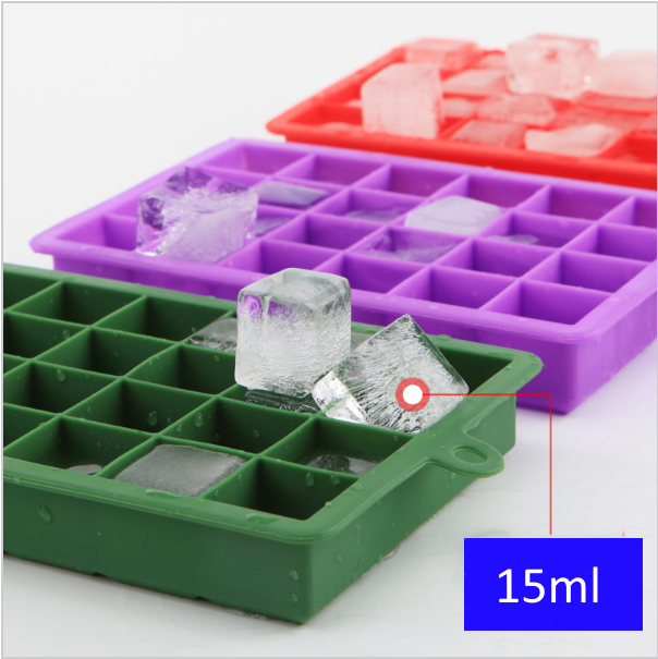 15 Square Soft Silicone Ice Cube Tray Ice Maker Jelly Pudding Mould Ice Mold
