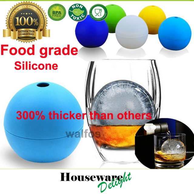 1 Piece Large Whisky Ice Ball 6cm Round Whisky Silicone Ice Ball Mold Big Sphere Ice Mould Whiskey Ice Ball Maker