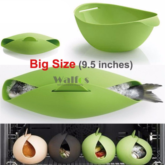 Steamer – Microwave Steamer – Oven Fish Kettle Poacher Cooker Food Vegetable Bowl Basket Kitchen Cooking Tools