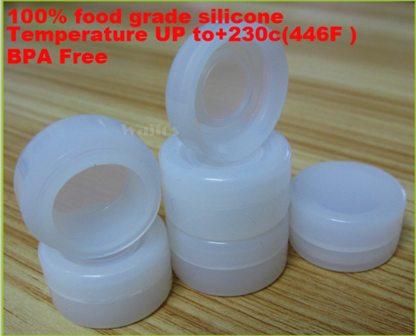 5 pieces 5ml Silicone Small Jar Silicone Bho Wax Vaporizer Oil 5ml Container Silicone Nonstick Dab Container Wax