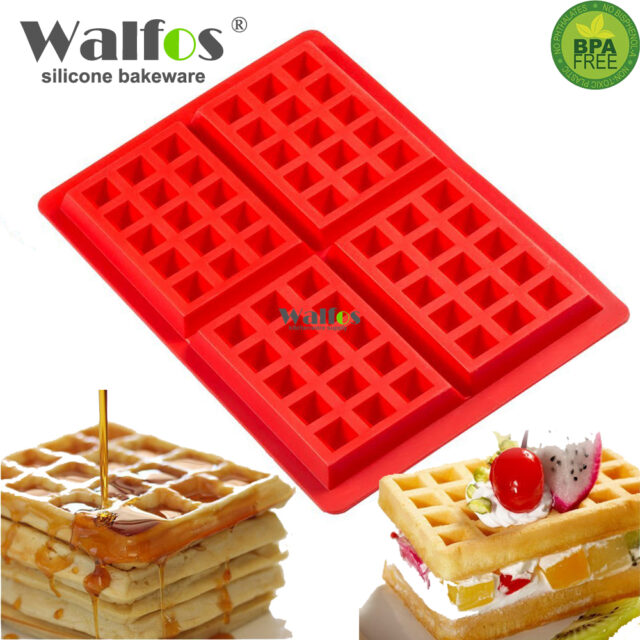 Waffles Cake Pan Silicone Baking Mould. Cooking Tools Kitchen Accessories Supplies silicone Baking Dishes
