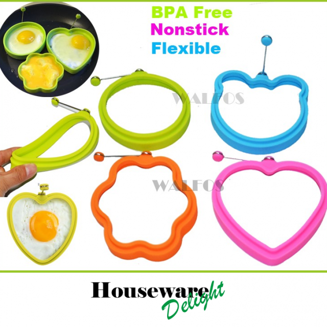 2 Pieces Round Silicone Egg Rings-Nonstick Silicone Egg Poacher – Egg Form Mold Tools Baking Tools