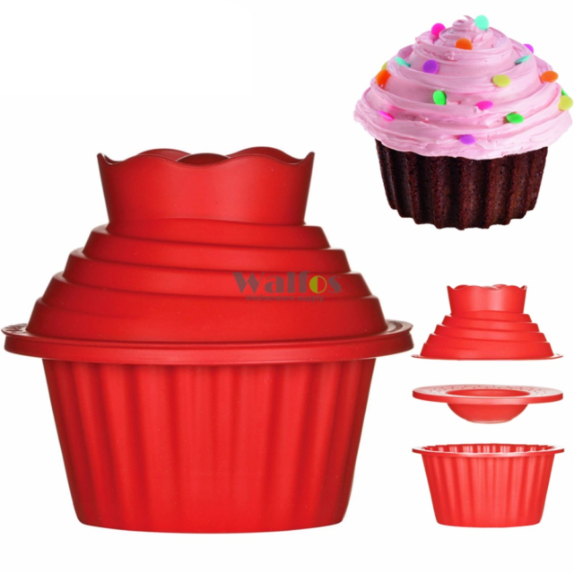 Giant Cupcake Mold – 3 PCS Big Top Cupcake Silicone Mould – Heat Resistant Bake Tools Baking Maker