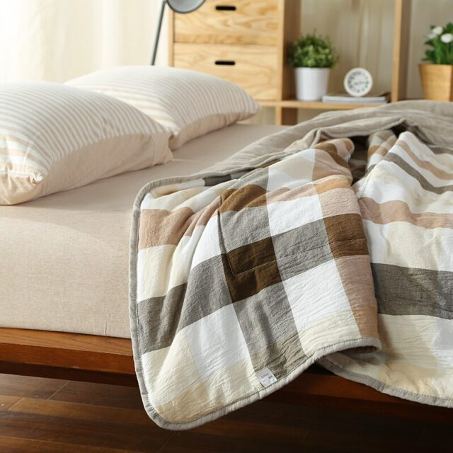 Stiching Quilt washed Cotton thin Duvet Twin Queen Full King Size Comforter 100% Cotton bedding Throw Blanket Plaid