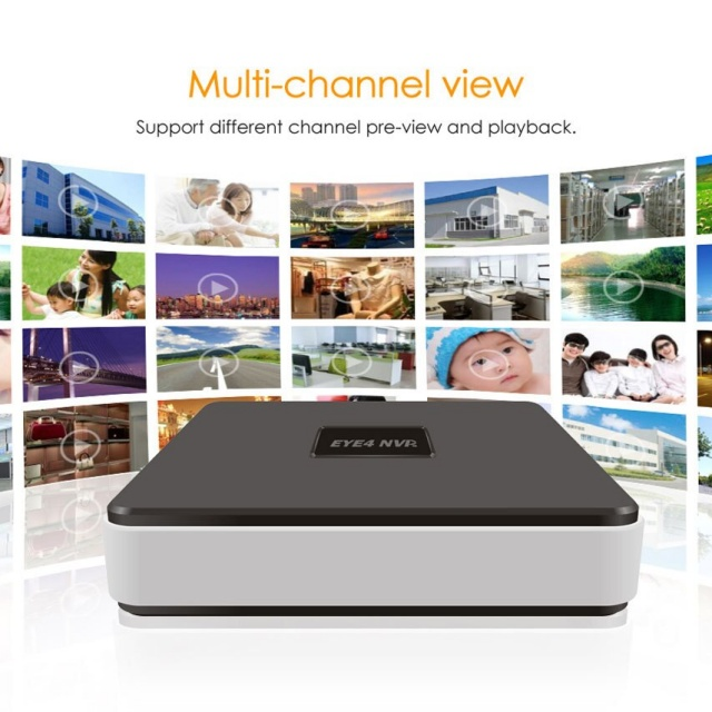 VStarcam 4Channel Onvif nvr 4ch multiple-languages audio input HDMI Network video recorder HD720P960P1080P NVR 4CH for ip camera