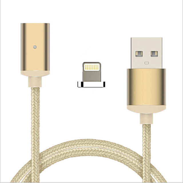 Nylon Magnetic Data Cable For Lightning & Micro USB Type-C Adapter Fast Charging Both For Android For iPhone For Type-C Adapter
