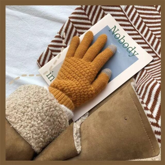 Women's Touch Screen Wool Gloves