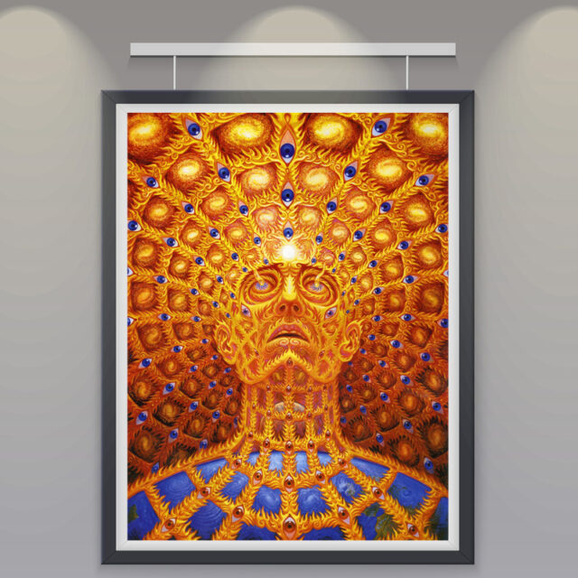 Silk Psychedelic Wall Posters for Home Decoration