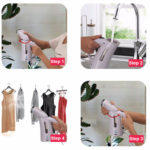 Vertical Garment Steamer for Home and Travel Use