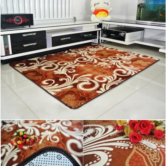 Soft Geometric Printed Anti-Skid Rugs For Home
