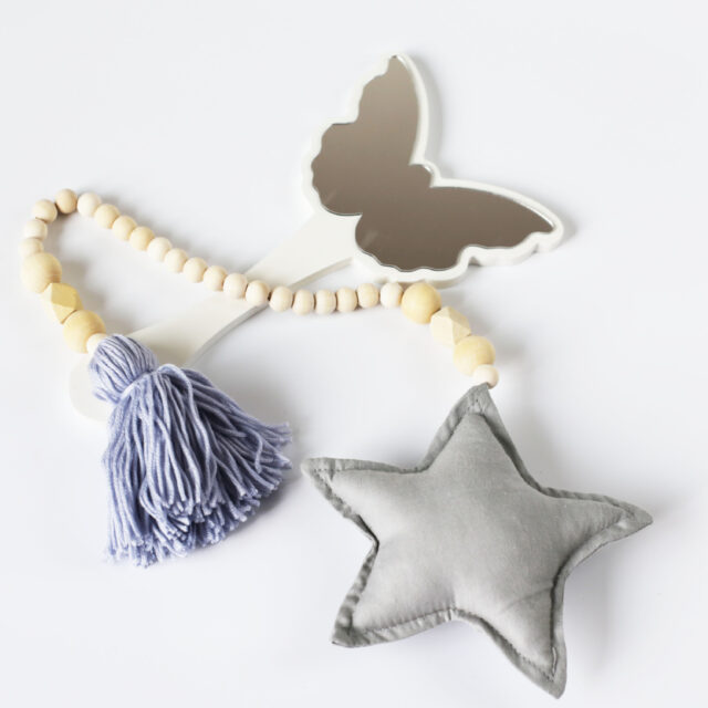 Wooden Beads, Hearts & Stars Hanging Home Decoration